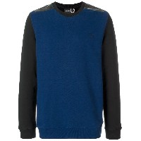 Raf Simons X Fred Perry tape detail sweatshirt - ブルー