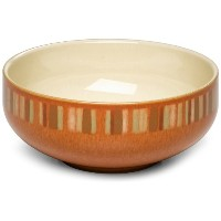 Denby FireストライプSoup / Cereal Bowls、4のセット