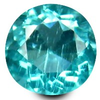 アパタイト ルーズジェムストーン 0.48 ct Round Shape (5 mm) 100% Natural Un-Heated Paraiba Blue Color Brazilian...