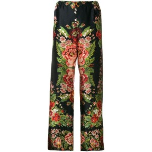 F.R.S For Restless Sleepers floral print trousers - ブラック