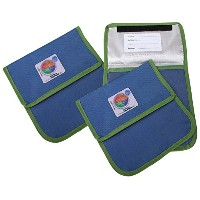 Fresh Baby 3 Piece Myplate Reusable Sandwich Bag, Blue/Green by Fresh Baby