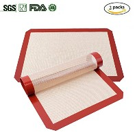 azorcol Silicone Baking Mat–2パック–プロフェッショナルグレードテフロン加工のシリコンLiner forベイクPans &ローリング–マカロン/ Pastry...