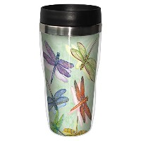 Dragonflies旅行マグ、ステンレスLinedコーヒータンブラー、473ml–Wendy Russell–Gift for Dragonfly and Nature Lovers–...