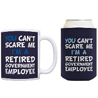 RetirementできないギフトScare Me I ' m a retired政府従業員Can CoolieドリンククーラーCoolies 12オンス ブルー
