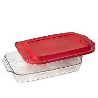 Pyrex Basics QuartガラスOblong Baking Dish 1PK-3QT Sculpted COMINHKG122331