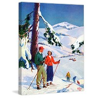 """Marmont Hill Ski break by Charles Hargens絵画印刷Wrappedキャンバス 24""""x31"""" MH-SEPSP-171-C-31"""