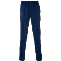 Kappa side stripe track pants - ブルー