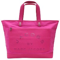 MARC BY MARC JACOBS(マーク バイ マークジェイコブス) 直営店限定 Laminated Twill Jacobs Medium Tote トートバッグ(マゼンタ) 【並行輸入品】