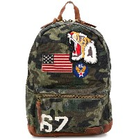 Polo Ralph Lauren applique patch camouflage backpack - グリーン