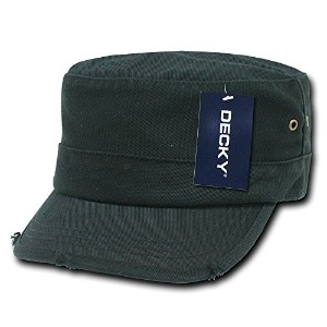 Decky GR4-PL-BLK-07 Vintage GI Cap, Black, Large and XL