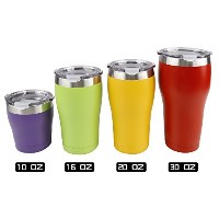 Tahoe Trailステンレススチールタンブラー真空断熱二重壁Travel Cup with Lid 24Colors Available 16oz パープル 66-268-1002