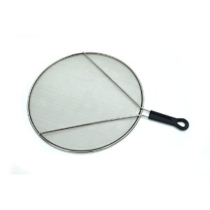 """sammart Splatter画面のFrying Pan–13""""ステンレススチールスプラッシュガードfor Cooking–Extra Fine Mesh with supportingワ..."""