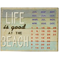 GREAT Finds Life Is Good At The Beachメタルカレンダー