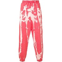 Mirror By Paura splatter print track pants - レッド