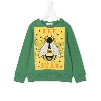 Gucci Kids Be Star print sweatshirt - グリーン