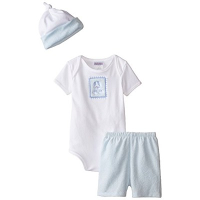 Raindrops Furry Friends Dog Short Sleeve Body Suit Gift Set, Blue, 3-6 Months, 4 Piece by Raindrops