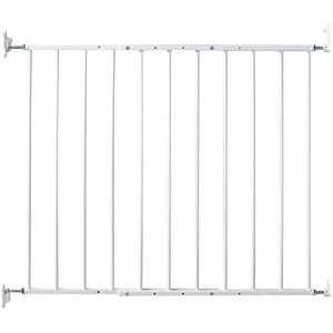 Kidco Safeway Gate, Top of Stairs Gate, White by Kidco