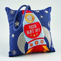 Tooth Fairy Cushion ROCKET (Dispatched From UK) by floss and rock