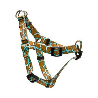 Yellow Dog Design SI-GIRT100XS Giraffe Teal Step-In Harness - Extra Small