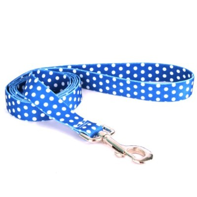 Yellow Dog Design NAVD105LD 3/4 in. x 60 in. Navy Polka Dot Lead
