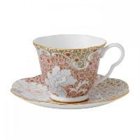 Wedgwood Daisy Tea Story Teacup and Saucer Set, Pink by Wedgwood