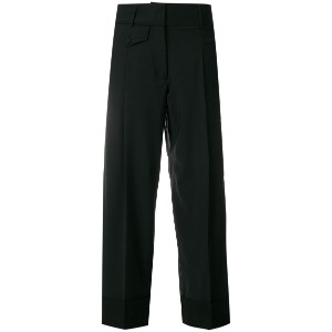 Maison Flaneur cropped trousers - ブラック