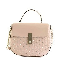 ゲス バッグ ショルダーバッグ GUESS MCKENNA VG678918 TOP HANDLE FLAP CAO CAMEO VG QUILTED LAMBSKIN PU 並行輸入品