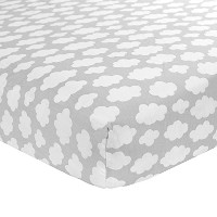 Carter's Cotton Fitted Crib Sheet, Grey Clouds by Carter's