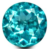 アパタイト ルーズジェムストーン 0.66 ct Round Cut (5.5 mm) 100% Natural Un-Heated Paraiba Blue Color Brazilian...