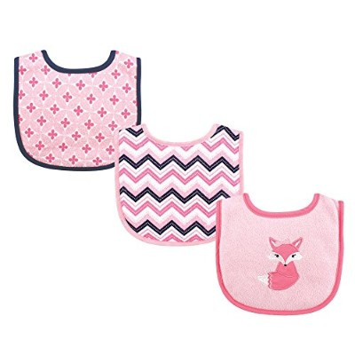 Luvable Friends 3 Piece Drooler Bibs with Fiber Filling, Foxy by Luvable Friends