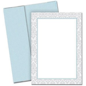 Fresh Slate Damask Flat Card Invitations with Envelopes by Great Papers! [並行輸入品]