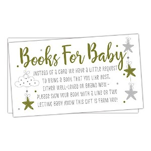 50Twinkle Little Star Books forベビーシャワーリクエストカード–招待挿入