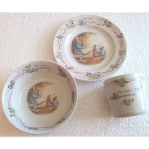Wedgwood Peter Rabbit 3ピース食器類Place Setting、サービスfor 1