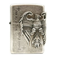 Zippo Power Eagle SI Lighter ライター / 正真正銘の本物 / オリジナルパッキング(6フリントセット フリーギフト) [並行輸入品]
