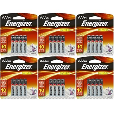 Energizer Max AAA Batteries, AAA4, 4-Count Packs - Total: 24 Batteries (6 X 4 Count Packs) by...