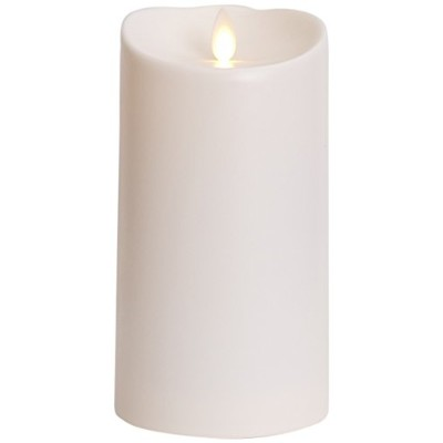 Luminara Outdoor Flameless Candle: Plastic Finish, Unscented Moving Flame Candle with Timer (18cm...
