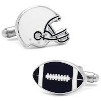 Ox and Bull Trading Co。Varsity Football Navy and White Cufflinks