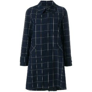 A.P.C. checked coat - ブルー