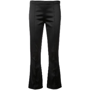 The Row flared cropped trousers - ブラック