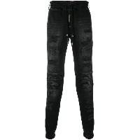 Philipp Plein distressed track pants - ブラック