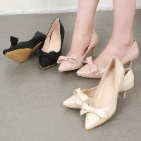 [ShoesN] Ribbon Point Pumps High Heels sn298 from to korea stylish shoes