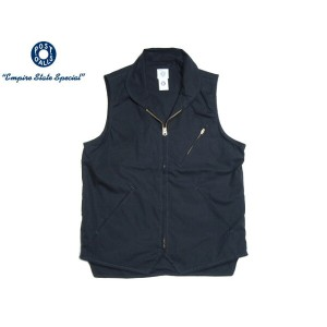 POST OVERALLS(ポストオーバーオールズ)/#1522 COTTON BROADCLOTH EZ-CRUZ VEST/navy
