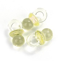 Small Yellow Acrylic Baby Pacifiers to Decorate Baby Shower Favors - 144 Pieces - Size: 1/2 X 3/4...