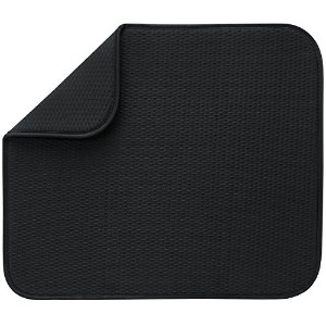 Envision Home Microfiber Dish Drying Mat, 40.6cm by 45.7cm , Black by Envision Home