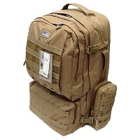 """22"""" 4300cu. in。Tactical Hunting Campingハイキングバックパックop822Tan"""