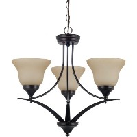 Sea Gull Lighting 31173BLE-710 Chandelier with Amber ScavoGlass Shades, Burnt Sienna Finish by Sea...