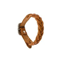 Il Bisonte braided bracelet - ブラウン