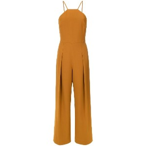 Andrea Marques pleated details jumpsuit - Ocre