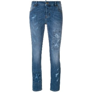 Red Valentino distressed skinny jeans - ブルー