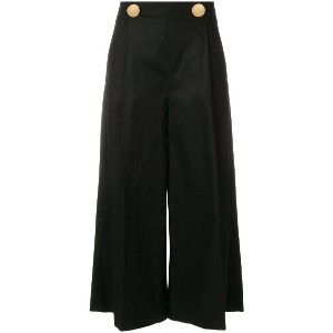 L'Autre Chose cropped flared trousers - ブラック